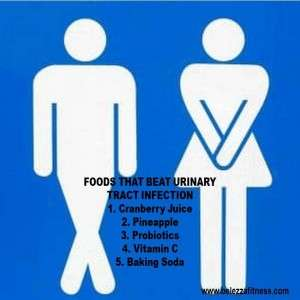 Foods that beat Urinary Tract Infecton