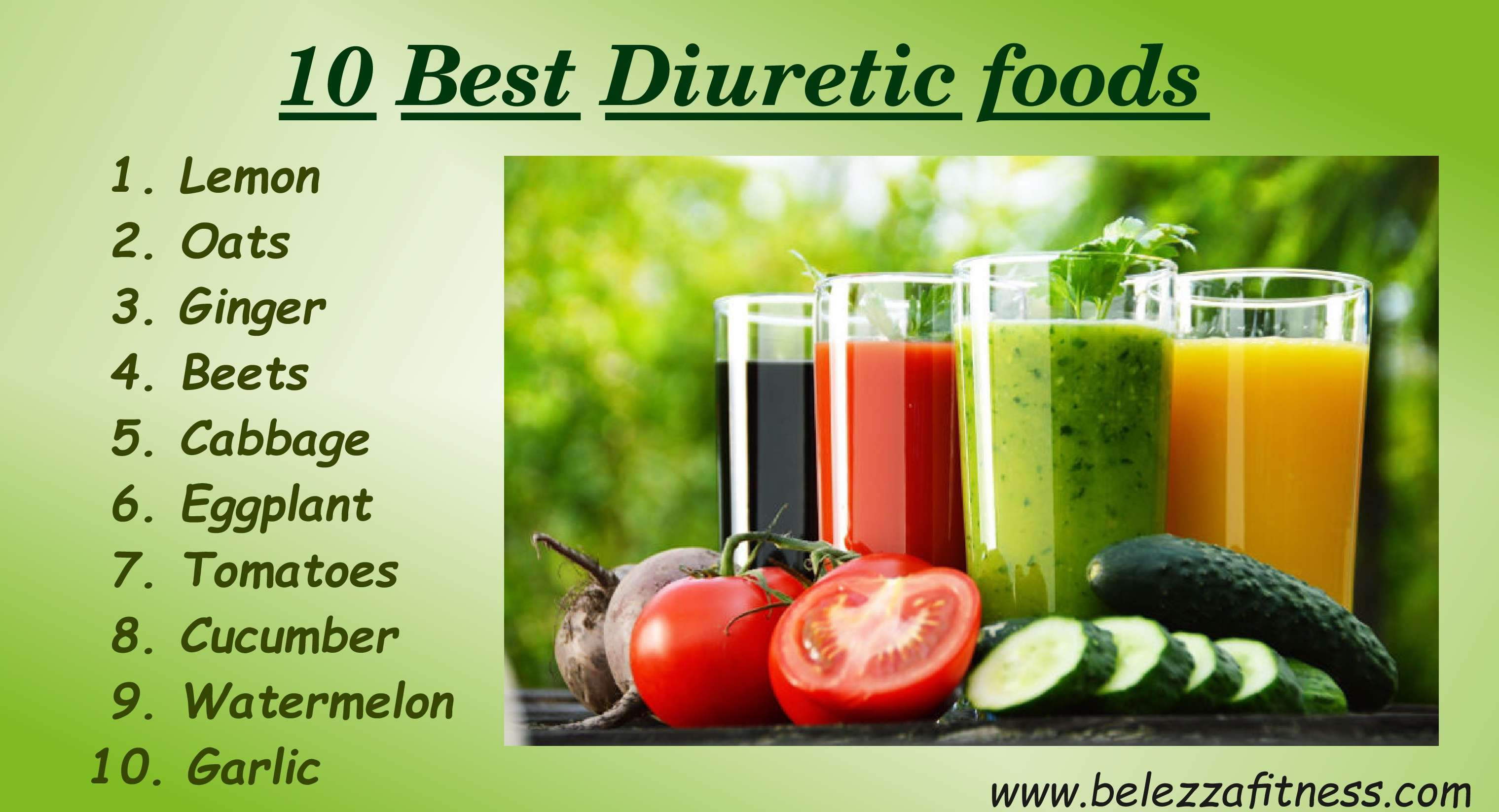 10 Best Diuretic foods