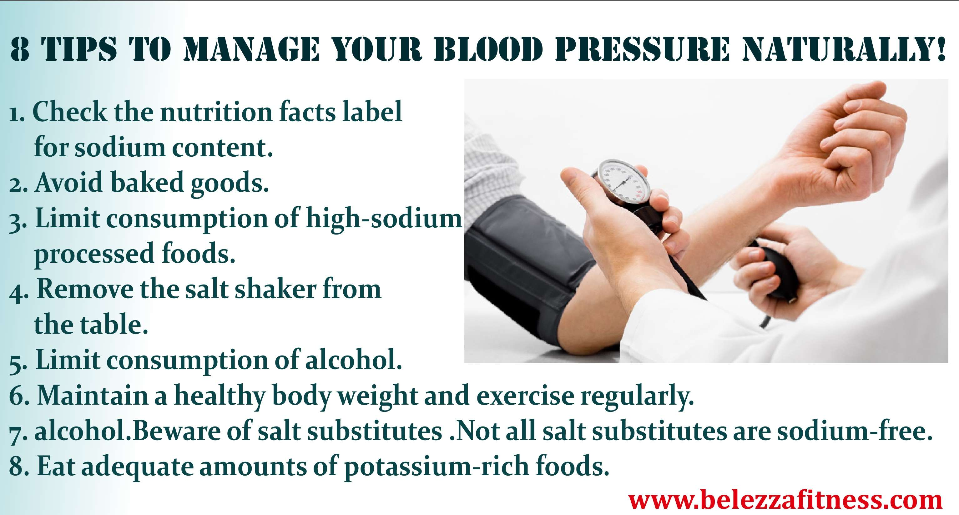 8 tips to manage your blood pressure naturally!
