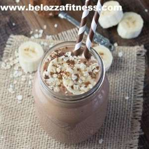 Chocolate oat smoothie.
