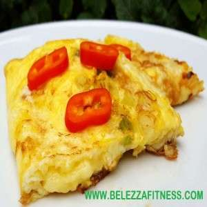 Cheesy Omelet Sandwich