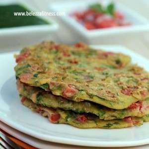 Nutritious jowar and tomato cheela