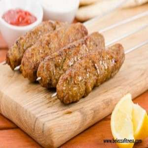 Baked chicken and veg seekh kabab