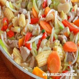 Cabbage, Carrot and Babycorn Stir-Fry