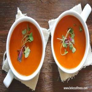 Carrot and tomato soup
