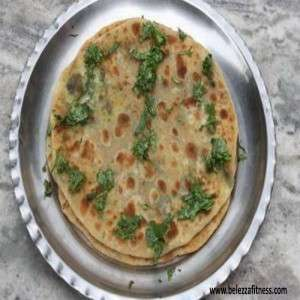 Cauliflower greens paratha