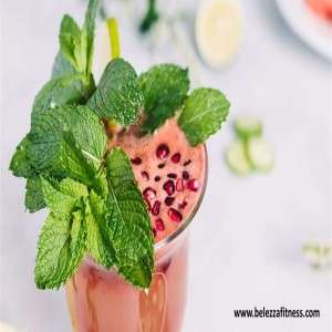 Minty Watermelon-Cucumber Smoothie