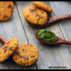 Green moong Dal and Cabbage Tikki