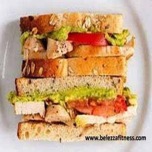 Multigrain bread sandwich