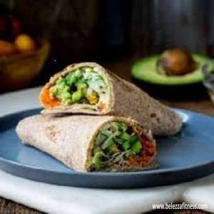 WHOLE WHEAT VEG MEDITERRANEAN WRAP