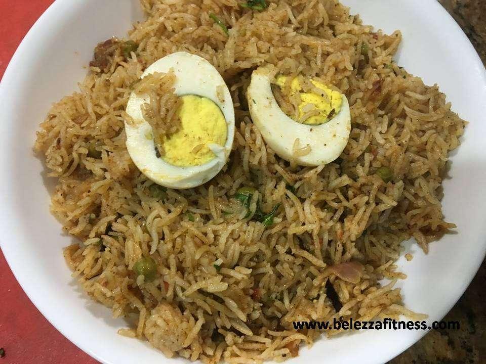 Brown rice egg biryani