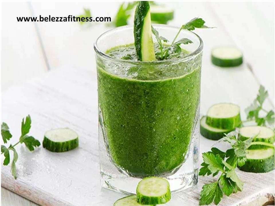 Cucumber and kiwi juice