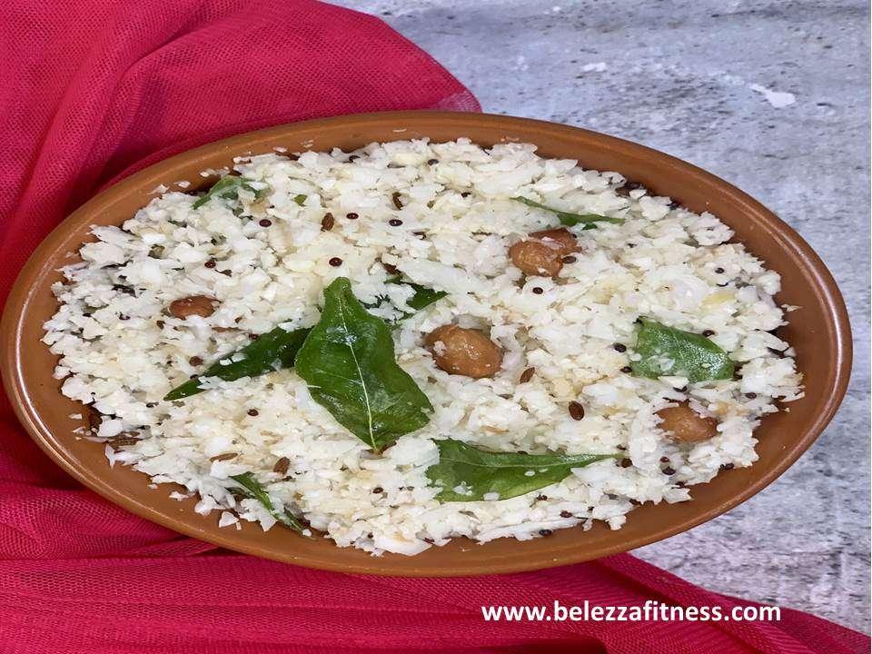 Keto coconut cauliflower rice