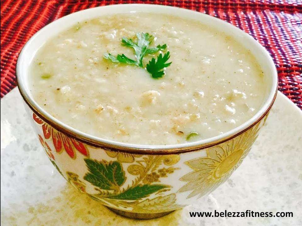 Oats and chicken soup