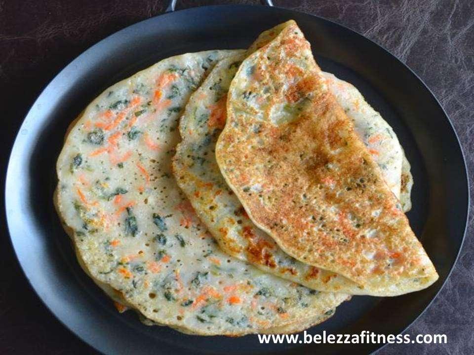 Semolina vegetable cheela