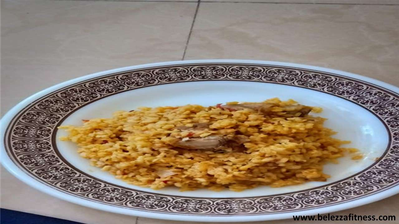 Chicken pulao with tomato and brown rice