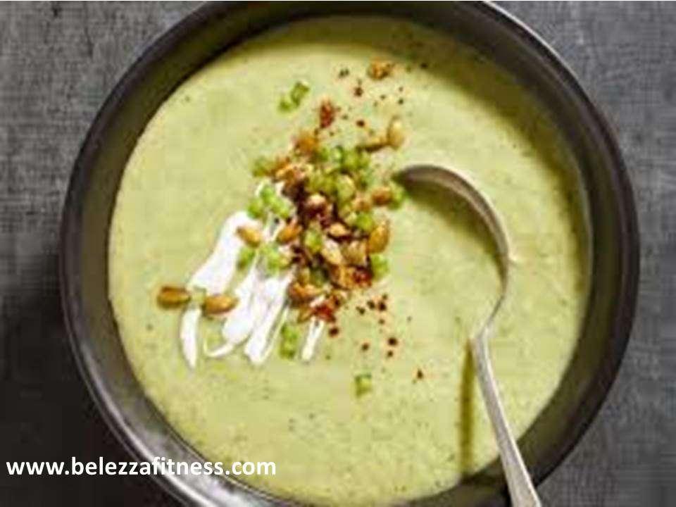 Keto avocado soup