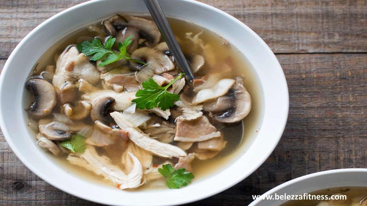 Thai chicken mushroom soup