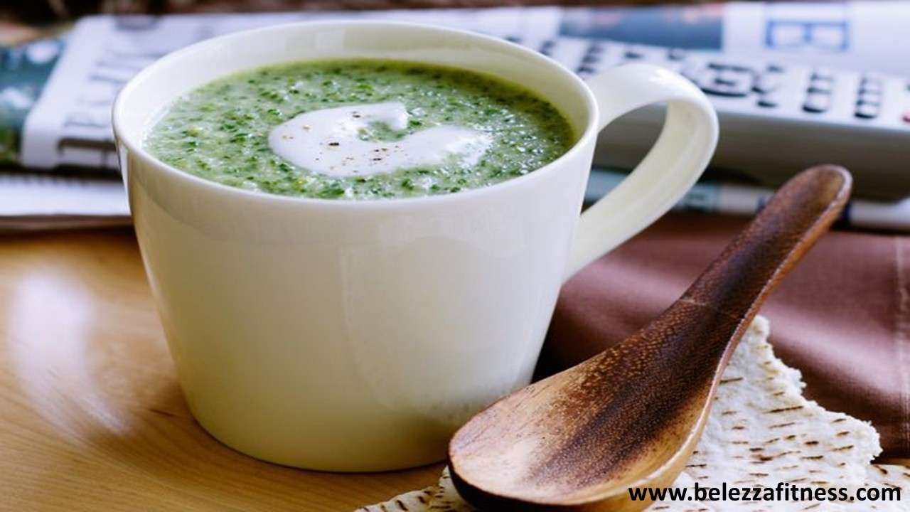 Coconut and spinach soup