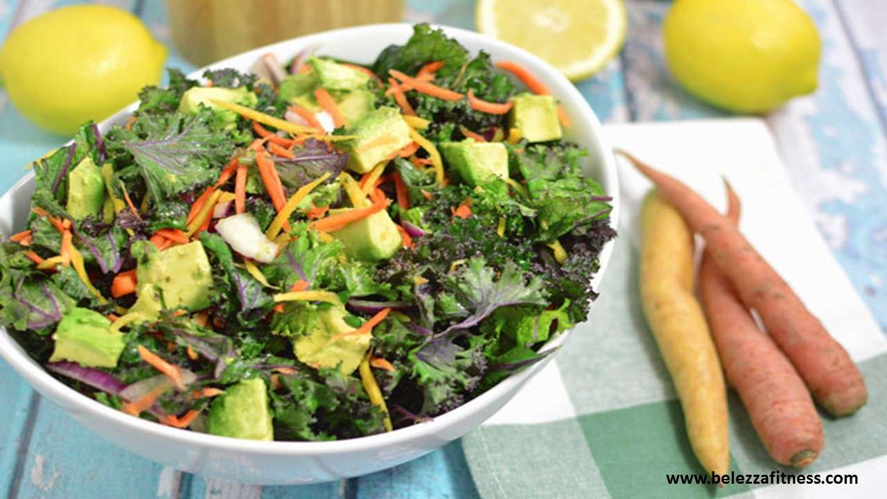 kale avocado lemon salad